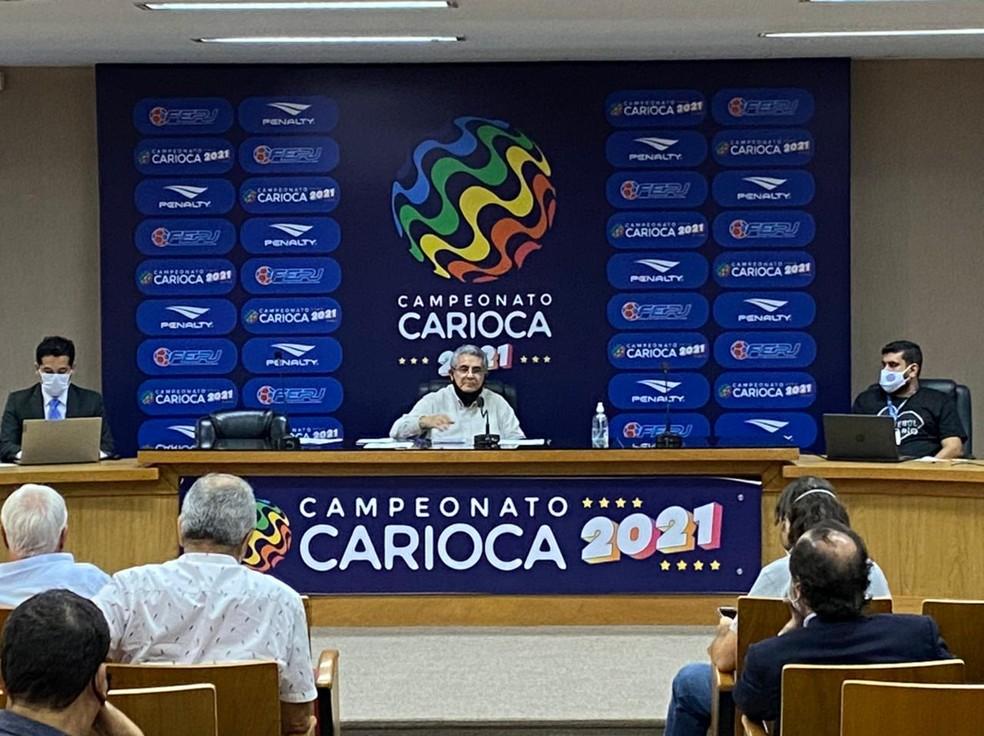 Reunião arbitral do Carioca de 2021 realizada em fevereiro definiu novas datas — Foto: Ivan Paulo/Agência FERJ