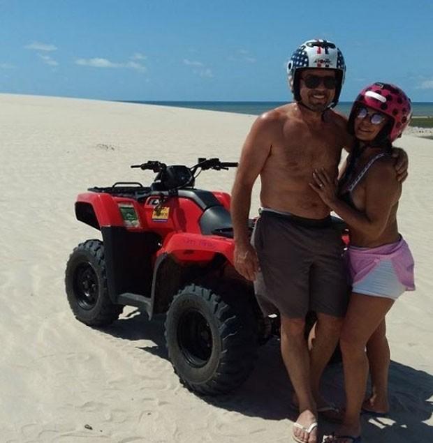 Gretchen e marido, Carlos Marques (Foto: Reprodução)