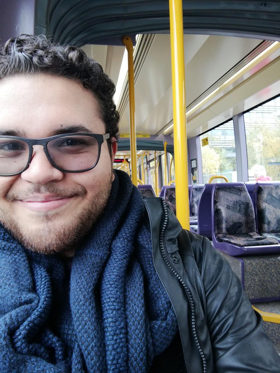 Antes da universidade, Renan nunca havia viajado para o exterior nem andado de avião — Foto: Arquivo Pessoal