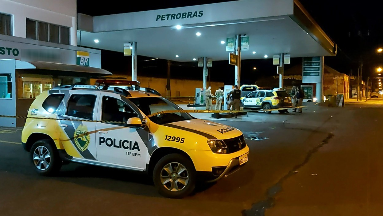 Dois homens são baleados por policial  durante confusão em posto de combustíveis em Rolândia - Notícias - Plantão Diário