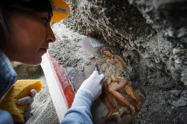 Pompeia foi destruída em 79 d.C.  (Foto: ANSA)