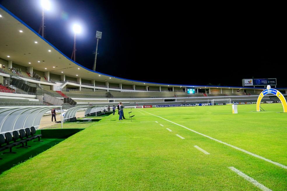 Estádio Rei Pelé pode ter capacidade ampliada  — Foto: Ailton Cruz / Gazeta de Alagoas