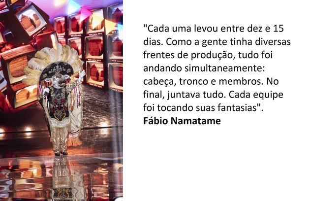 Fábio Namatame revela o tempo de produção dos figurinos (Foto: Globo)
