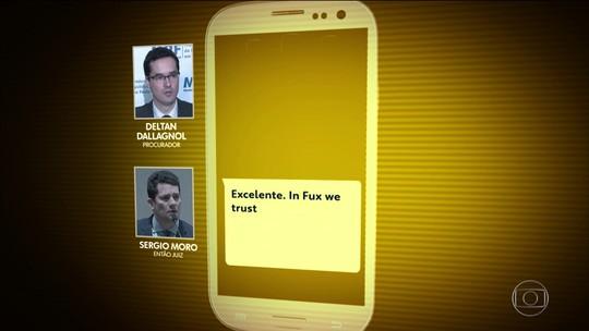 Moro e Dallagnol fazem referência ao ministro Luiz Fux em novos trechos de mensagens