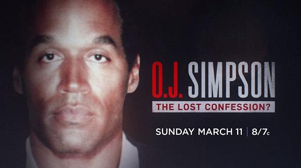 O anúncio do programa no qual O.J. Simpson cogita como poderia ter assassinado a sua ex-esposa e seu namorado (Foto: Divulgação)