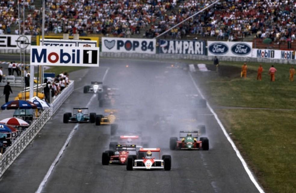 Largada do GP da Alemanha de 1988, em Hockenheim — Foto: Getty Images