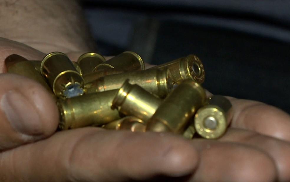 Munição calibre.40 — Foto: Reprodução / EPTV