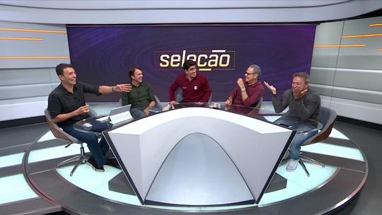 Marcelo Adnet invade Seleção SporTV, imita Luiz Carlos Jr. e arranca risadas da galera