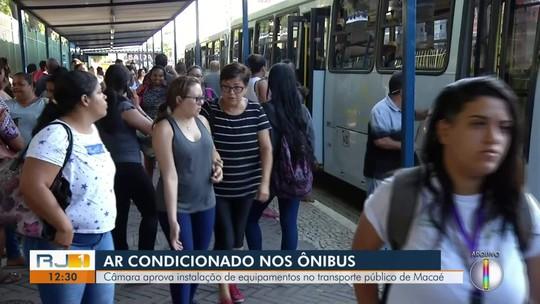 Câmara aprova instalação de ar condicionado nos ônibus de Macaé