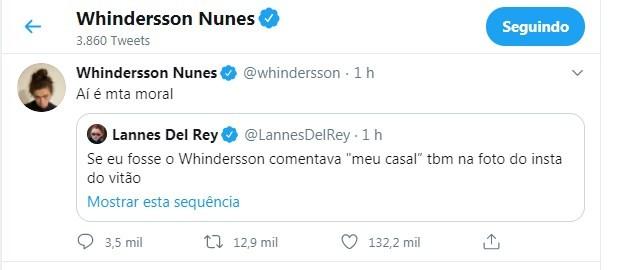 Tweet de Whindersson Nunes (Foto: Reprodução/Twitter)