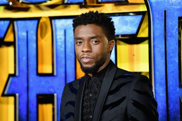 "LONDON, ENGLAND - FEBRUARY 08:  Chadwick Boseman attends the European Premiere of Marvel Studios' ""Black Panther"" at the Eventim Apollo, Hammersmith on February 8, 2018 in London, England.  (Photo by Gareth Cattermole/Getty Images for Disney) (Foto: Getty Images for Disney)"
