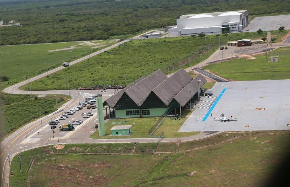 Aeroporto de Canoa Quebrada, em Aracati, no Ceará, recebe seu primeiro voo comercial regular — Foto: Fabiane de Paula / Sistema Verdes Mares