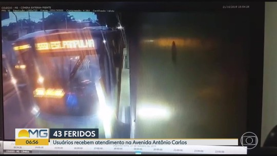 VEJA momento da batida entre três ônibus do Move em BH; 43 ficaram feridos