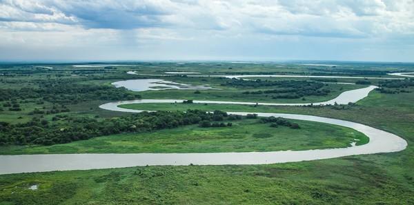 Fogo se alastra e chega até Estação Ecológica de Taiamã no Pantanal de MT