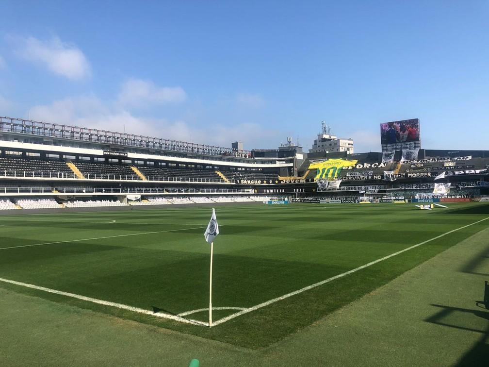 Vila Belmiro recebe Santos x Olimpia nesta terça-feira — Foto: Gabriel dos Santos/ge