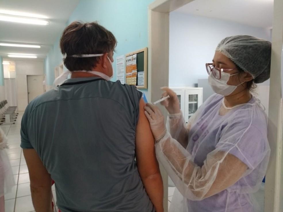 Natal atingiu 87% da meta de cobertura vacinal — Foto: SMS Natal
