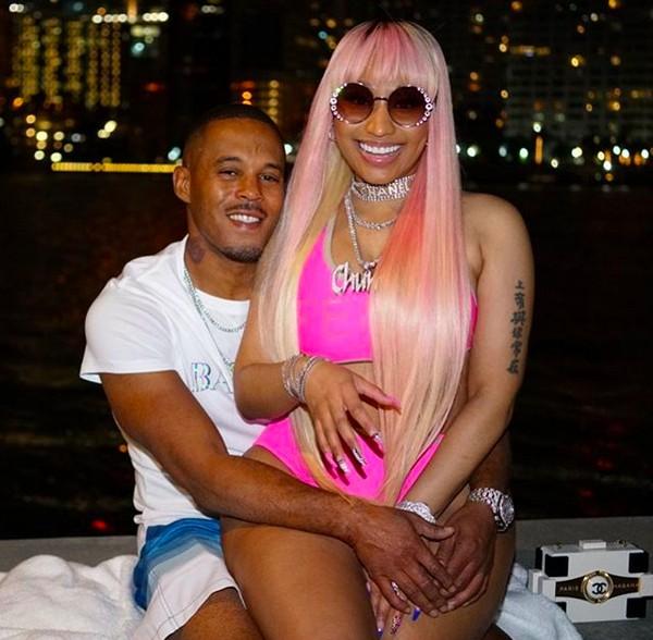 A cantora Nicki Minaj com o namorado (Foto: Instagram)
