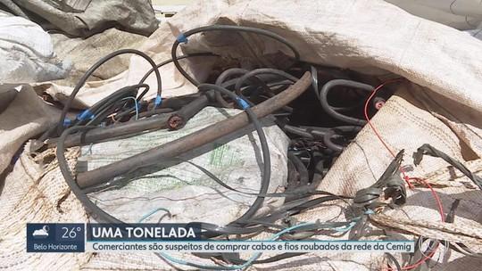 Comerciantes são suspeitos de comprar cabos e fios roubados da rede da Cemig em BH