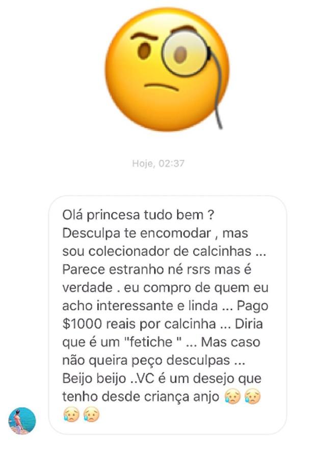 Susana Werner compartilha mensagem com pedido indiscreto de fã (Foto: Reprodução/Instagram)