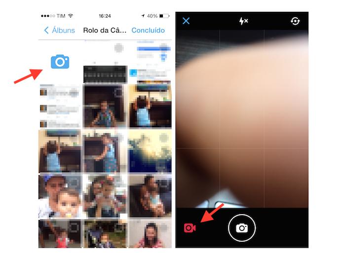 Acessando a ferramenta de gravação de vídeos do Twitter para iOS (Foto: Reprodução/Marvin Costa)