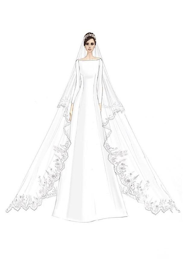 Croqui do vestido (Foto: Reprodução)