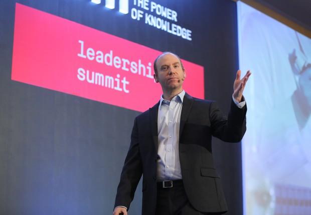 Scott Sonenshein durante o Leadership Summit  (Foto: OpenSpace)