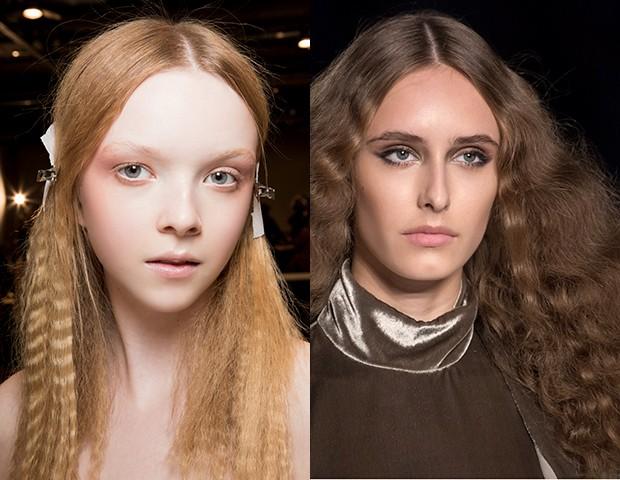O cabelo frisado nas passarelas da Gucci e da Calcaterra (Foto: IMAXTREE)
