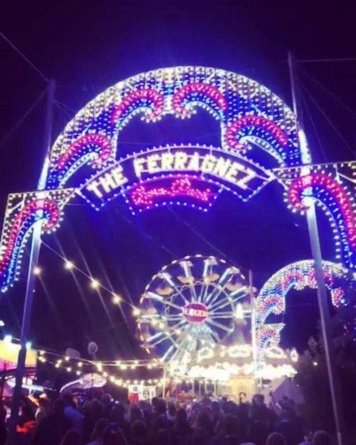 A roda gigante do parque temático do casamento dos #TheFerragnez (Foto: Reprodução/ Instagram)