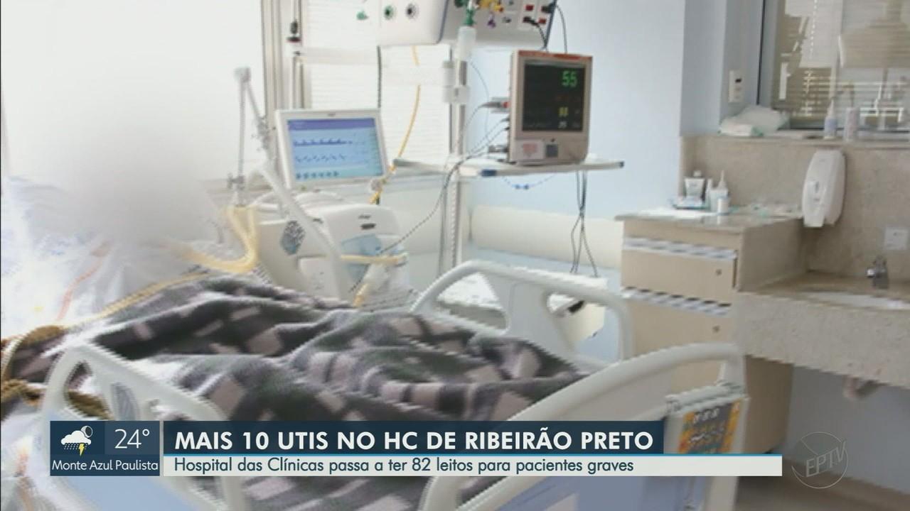 HC vai abrir 10 leitos de UTI e 24 de enfermaria para tratar Covid-19 em Ribeirão Preto