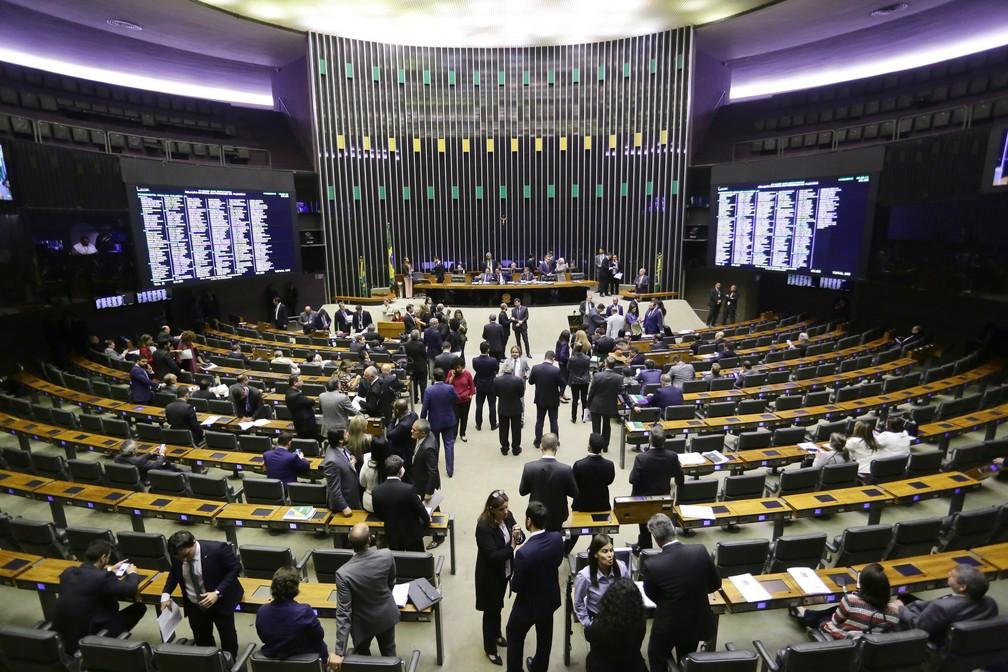 Plenário da Câmara em 17 de junho, um dos dias de votação com o maior número de ausentes — Foto: Michel Jesus/Câmara dos Deputados