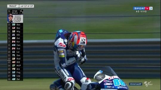 Jorge Martin vence a categoria Moto 3 e se torna o novo líder do campeonato