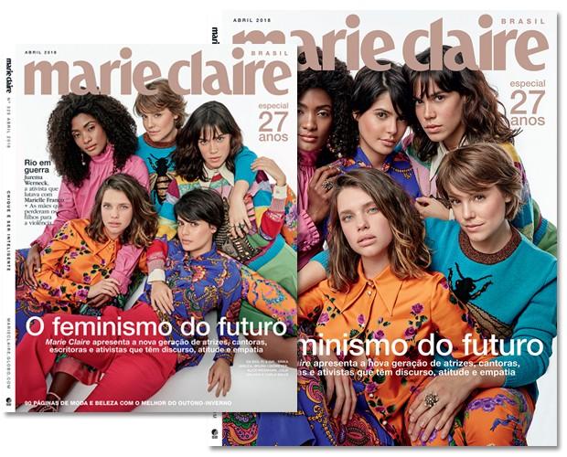 As capas da Marie Claire de abril (Foto: Marie Claire)