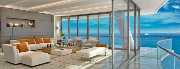 As residências do condomínio assinado pelo grupo FENDI podem ter até 6 mil m²  (Foto: Divulgação)