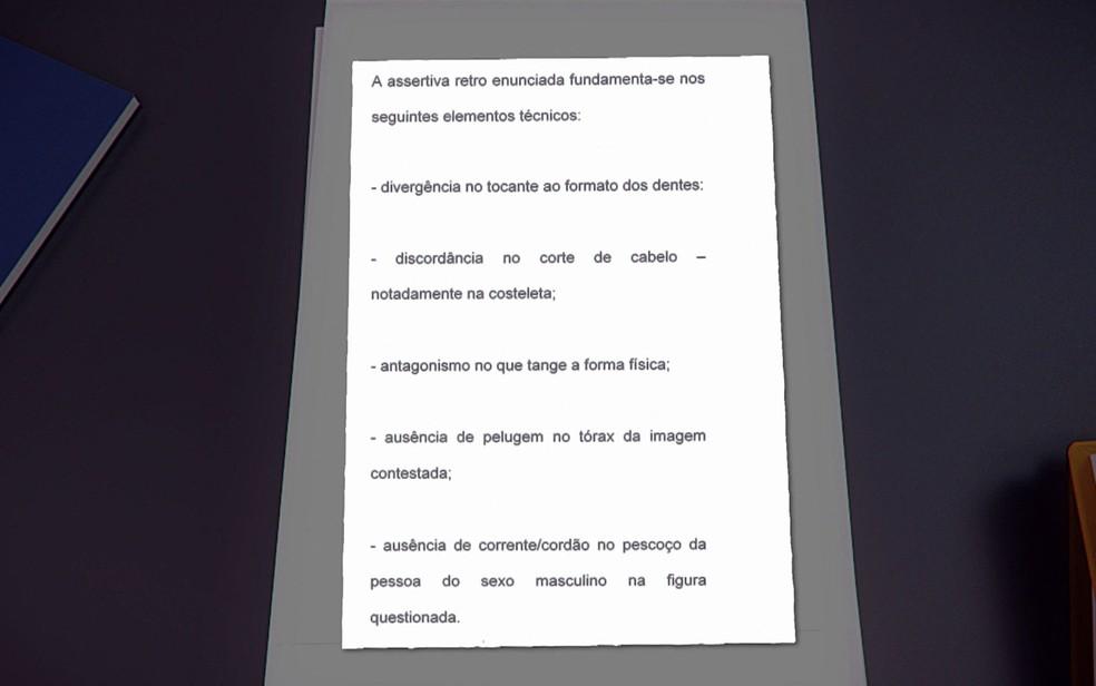 Laudo de perito criminal destaca divergências no vídeo atribuído a Doria — Foto: TV Globo/Reprodução