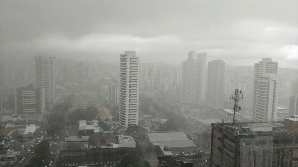 Inmet alerta para chuvas intensas em 113 cidades do RN — Foto: Pedro Vitorino/Cedida