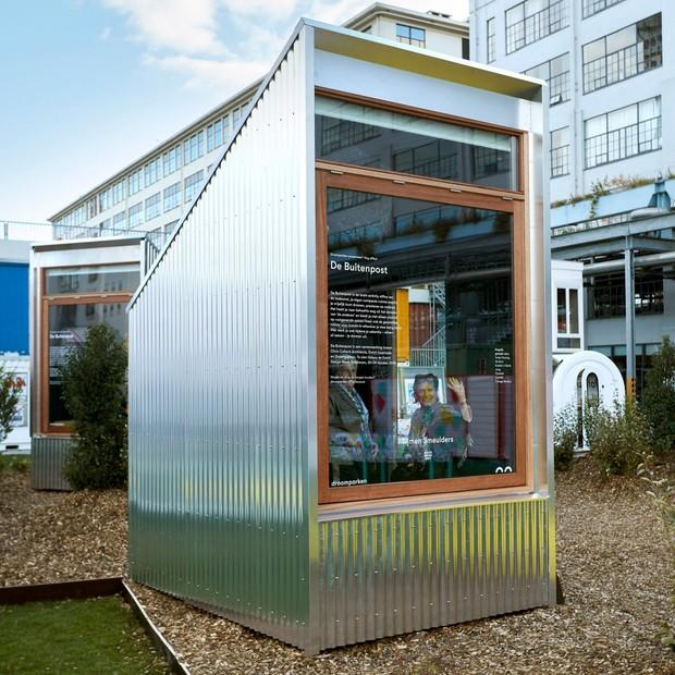Mini cabines de home office são instaladas em parques na Holanda (Foto: Divulgação)
