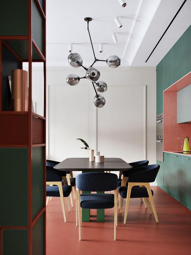 da275f6ed Décor do dia  cores integram sala de jantar e cozinha (Foto  Divulgação)