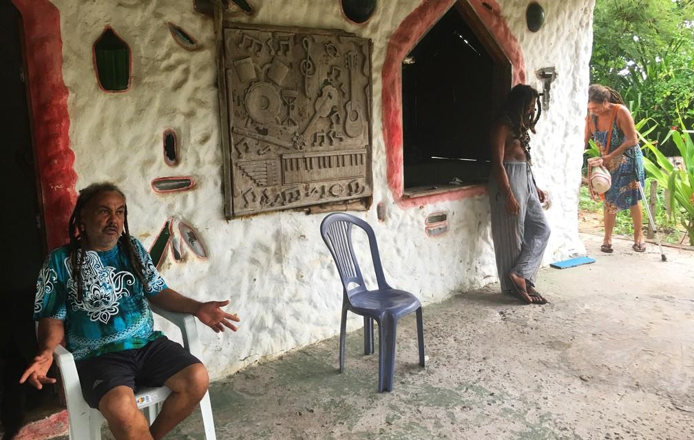 No início, nativos de Arembepe não gostavam da presença dos hippies — Foto: Gabriel Gonçalves/G1 Bahia