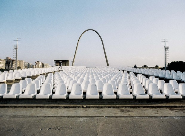 Um teatro a céu aberto também faz parte do monumento (Foto: Roberto Burle Marx/ Reprodução)