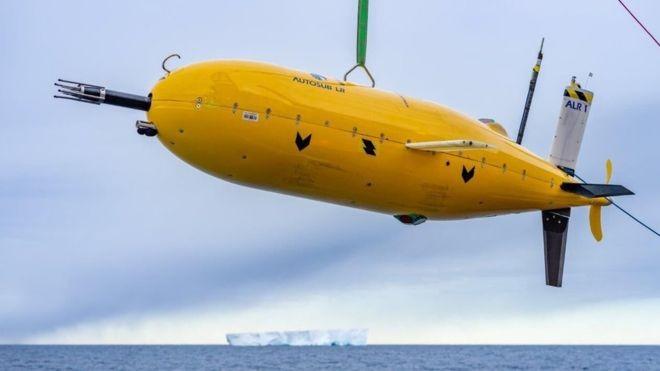 O robô submarino ultra resistente foi apelidado de Boaty McBoatface (Foto: NATIONAL OCEANOGRAPHY CENTRE)