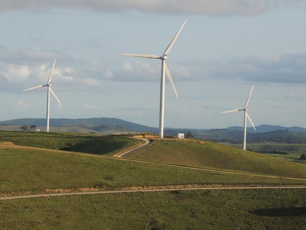 Moinhos de energia eólica  — Foto: Divulgação
