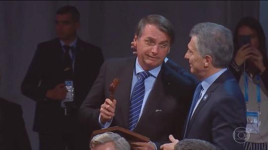 Na Argentina, Bolsonaro assume presidência rotativa do Mercosul