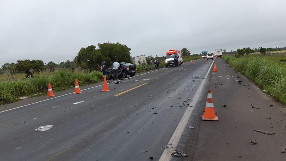 Trecho da rodovia onde aconteceu o acidente — Foto: Divulgação /PRF-PI
