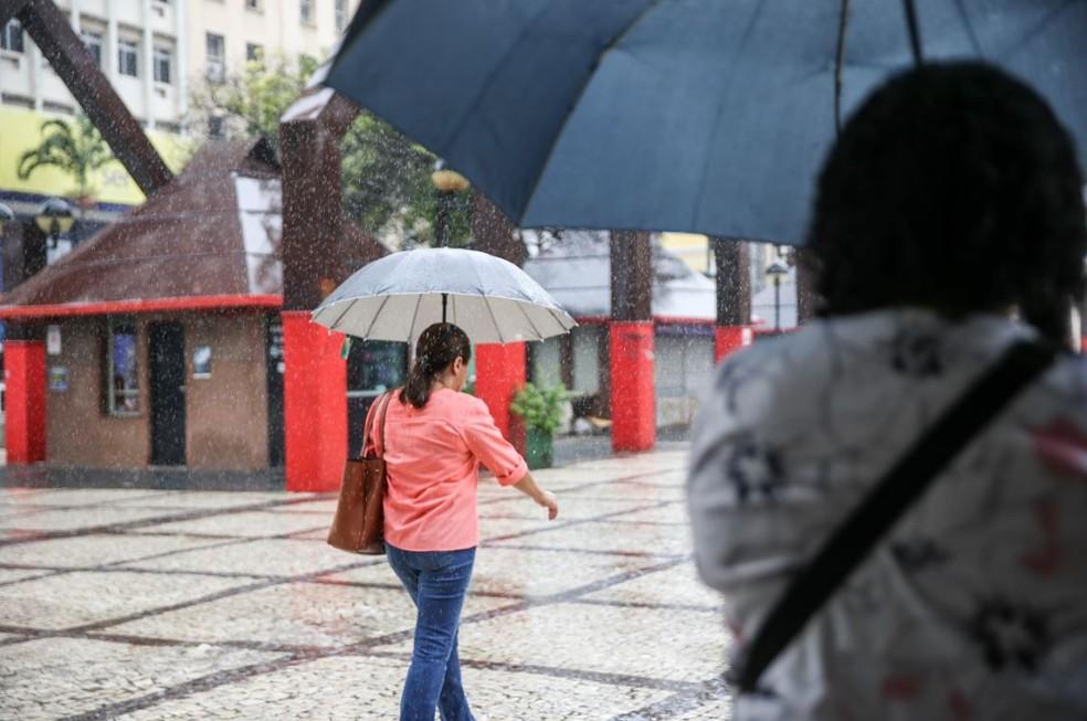 Último fim de semana em Fortaleza deve ser de chuvas, diz Funceme. — Foto: Natinho Rodrigues/Sistema Verdes Mares