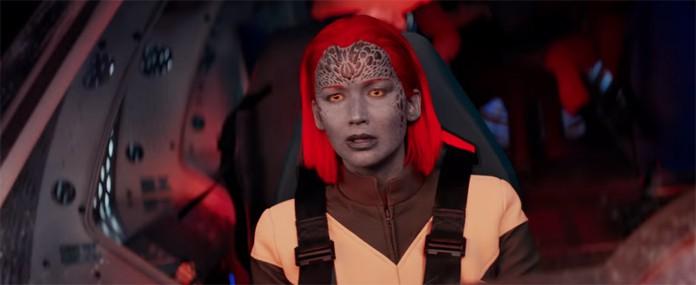 Jennifer Lawrence como Mística em X-Men: Fênix Negra (Foto: Divulgação)