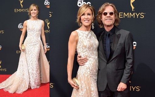O casal  Felicity Huffman e William H. Macy