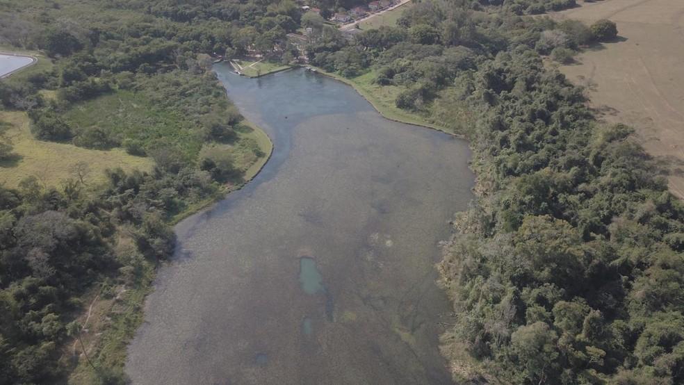 Lagoa de captação do Rio Batalha, em Bauru — Foto: DAE/Divulgação
