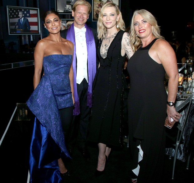 Marcello Coltro, Juliana Paes, Cate Blanchett e Klaudia Bermudez (Foto: Randall Michelson)