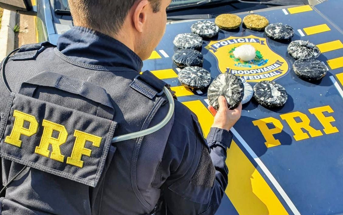 Homem é preso com skunk e metanfetamina na BR-158, em Santana do Livramento