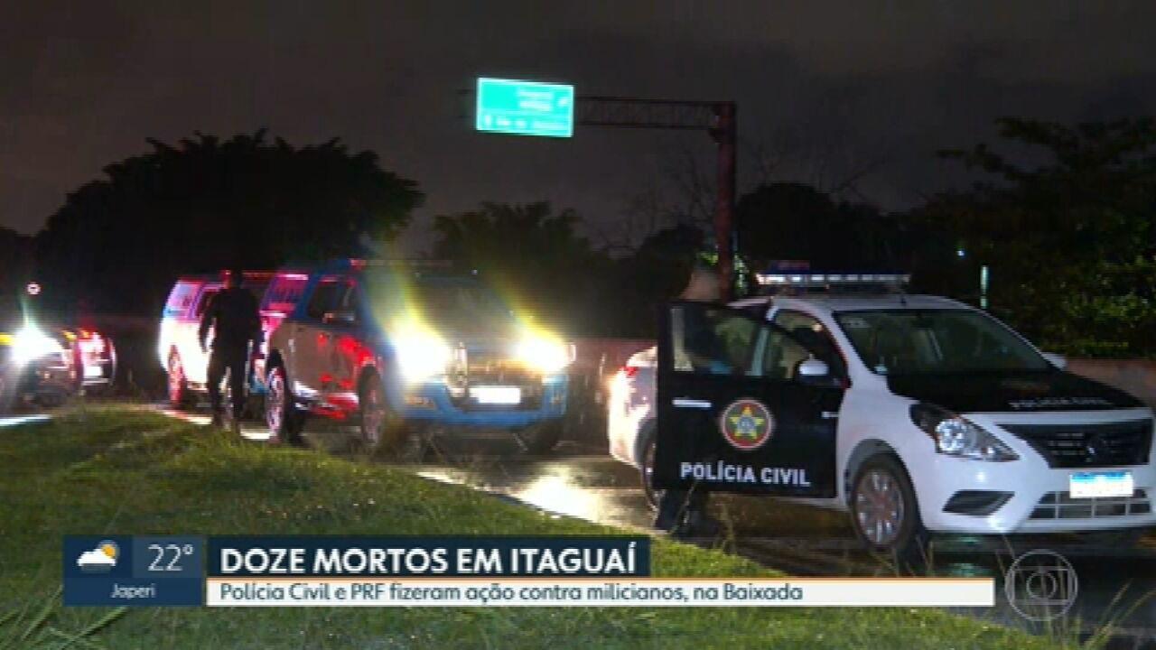 Doze suspeitos morrem em operação policial contra milicianos, em Itaguaí